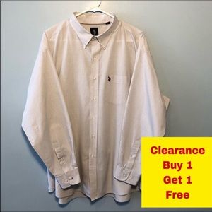 "U.S. Polo Assn Button Down Shirt Neck 18-18.5"" XXL"